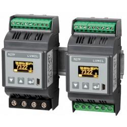 Aparat de masura digital Lumel N27P-2200E0, 32/63 A, 100/400 V RMS, I, U, P, Q, S, f, c.a., 1 releu, 1 x AO 0/4...20 mA, 85...253 V c.a