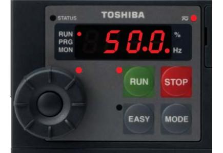 Toshiba VFS15. Comanda de pe panou