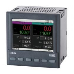 Controler Lumel RE92 3211100E0, RTD, TC, -200...1767°C, AI, potentiometru, 3 DI, 4 relee, 2 iesiri 0/5 V, AO, sursa 24 V c.c., RS-485, Ethernet, 110 V, 230 V