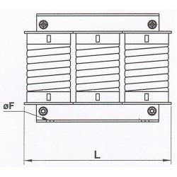 Bobina de reactanta a.c, trifazata, 0.011mH/1200A, pentru intrare sau iesire, 0.011 mH, 800 A, convertizoare pana la 630 kW