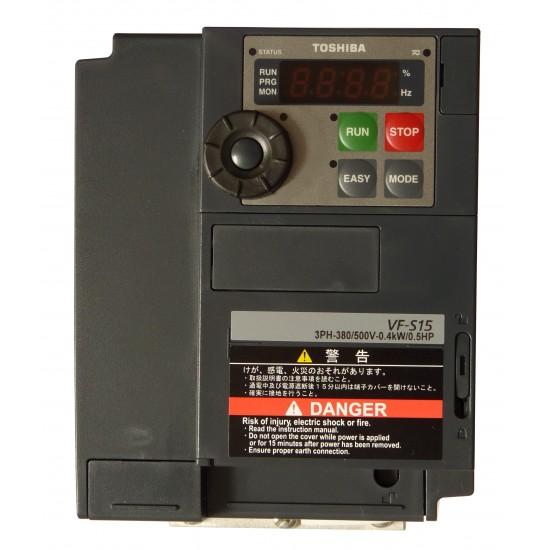 Convertizor de frecventa Toshiba VFS15-4004PL-W1, 0.4 kW, 1.5 A (HD)/0.75 kW, 2.1 A (ND), 3x400 V