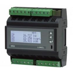 Aparat monitorizare Lumel NR30-2222SRE0, 3x230/400 V, 3x400/690 V, 63 A, 2 relee, SR, RS485, Ethernet, inregistrare, 24 V